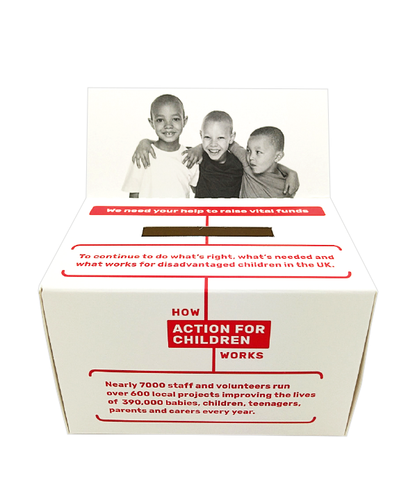 Charity Box with Flap