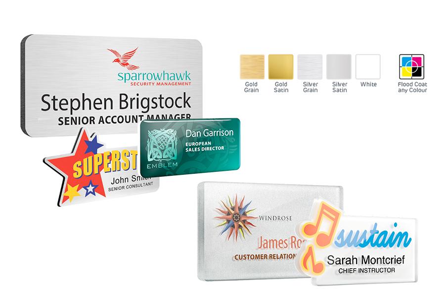 Plastic Name Badges | Reusable Name Badges | Micromarketing