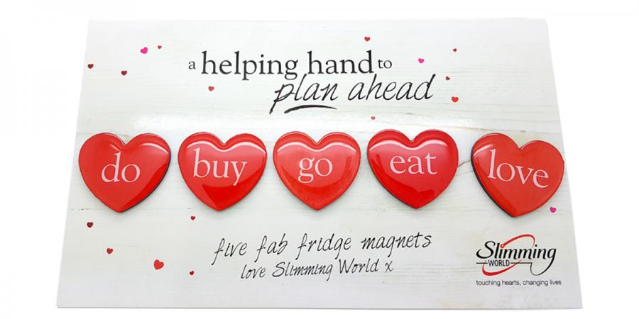 Slimming World Epoxy Heart Magnets